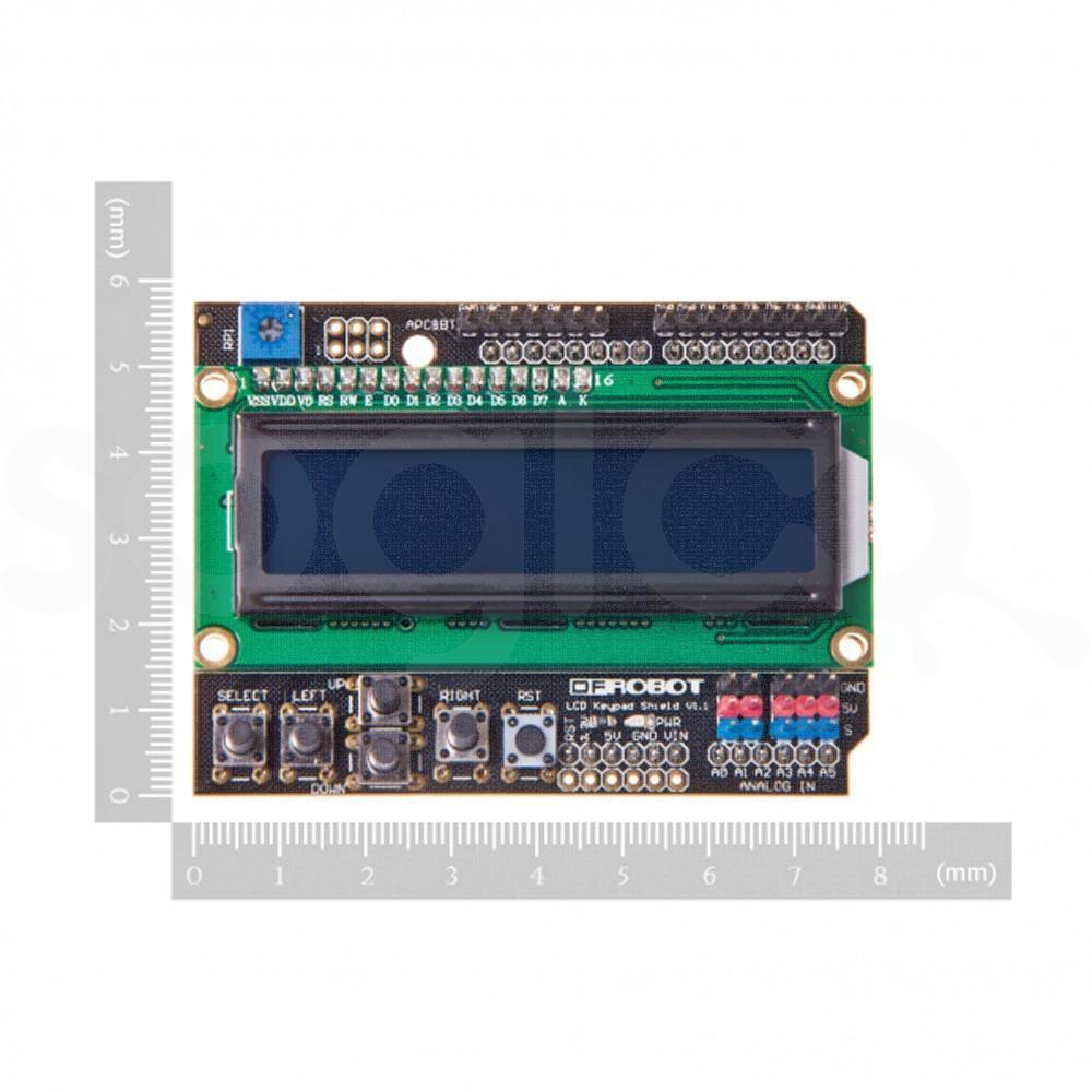 Shield LCD 16x2 con pulsanti per Arduino