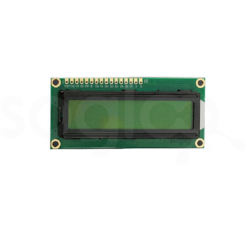 Display LCD 5V 16x2 - nero su giallo