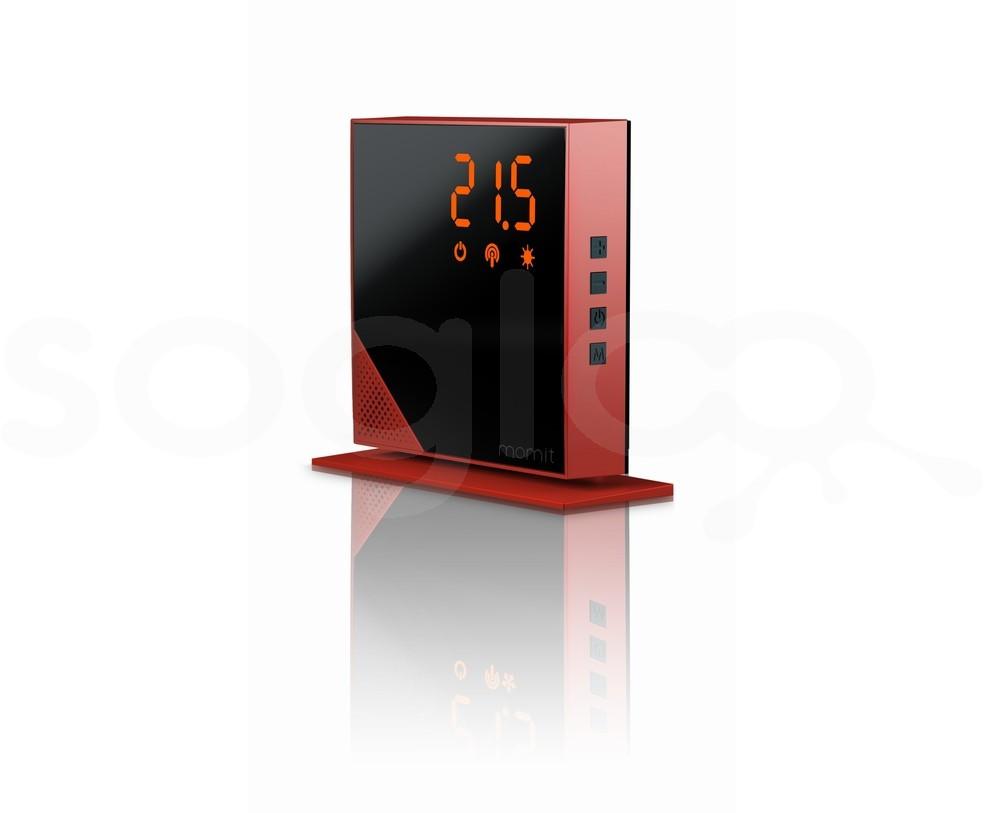 momit Home Thermostat Red Dhalia - Termostato Digitale Wi-Fi
