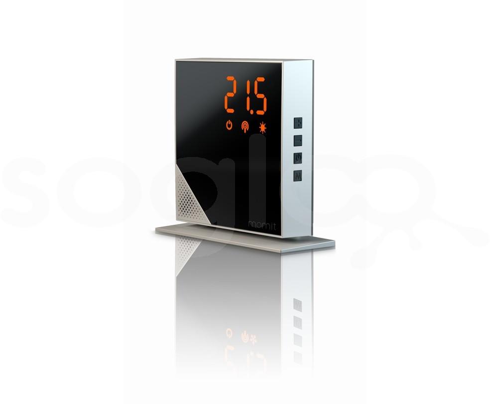 momit Home Thermostat Steel Silver - Termostato Digitale Wi-Fi