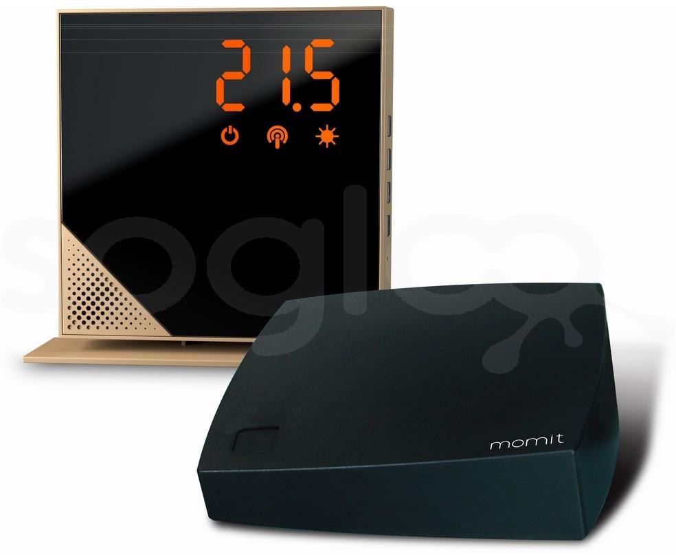 momit Home Thermostat Luxury Gold - Termostato Digitale Wi-Fi