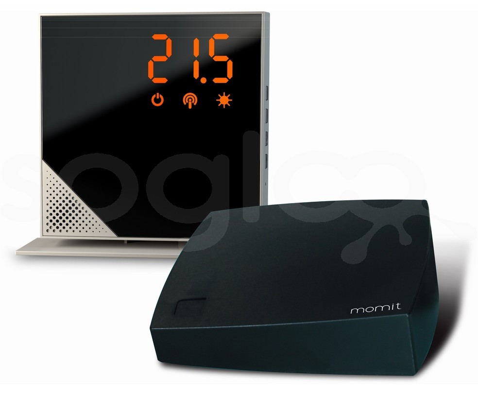 momit Home Thermostat Steel Silver - Termostato Digitale Wi-Fi