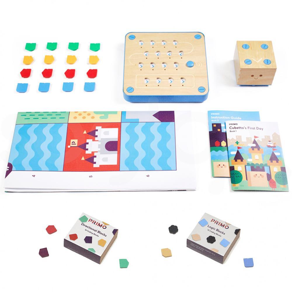 Cubetto Play Set con kit tasselli direzionali e logici