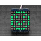 "Adafruit Small 1.2"" 8x8 LED Matrix w/I2C Backpack - Green"