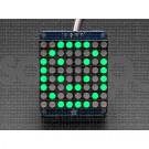 """Adafruit Small 1.2"""" 8x8 LED Matrix w/I2C Backpack - Green"""