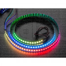 Striscia LED NeoPixel RGB Digitale 144 LED - 1m nera